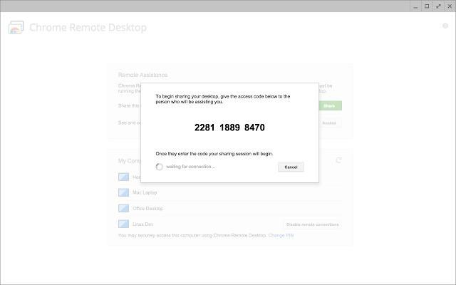 pantallazo Chrome Remote Desktop_1