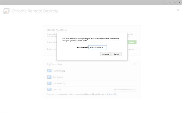pantallazo Chrome Remote Desktop_2