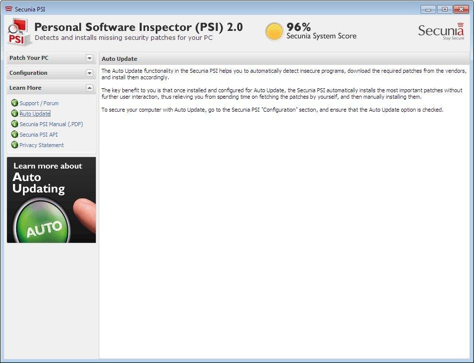 pantallazo Flexera PSI_3