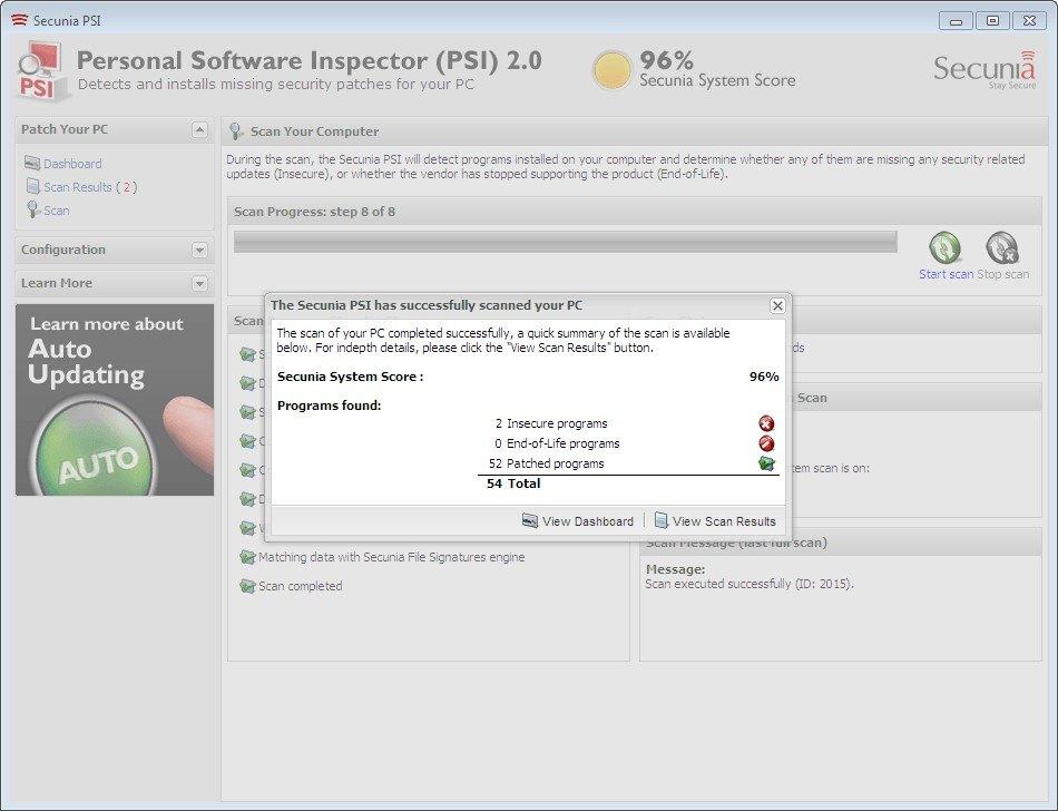 pantallazo Flexera PSI_5